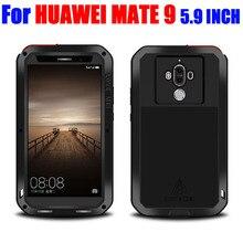 Для Huawei Mate 9 5.9 дюймов оригинальные Lovemei алюминиевый металл + стекло Gorilla шок падения Водонепроницаемый чехол для Huawei Mate9 HM93