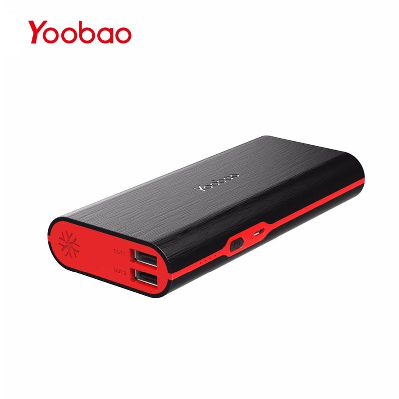 Цена за Yoobao M10 10000 мАч мобильный Мощность Bank 5 В/2A Батарея пакет с 2 USB Выход аварийного Портативный Зарядное устройство для iPhone 7 Xiaomi Redmi3