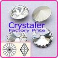 100 unids/lote Crytsal claro COLOR 8 MM 10 MM 12 MM 14mm 16mm 18mm 20mm Chino de Calidad superior cristalino Redondo perlas rivoli de cristal