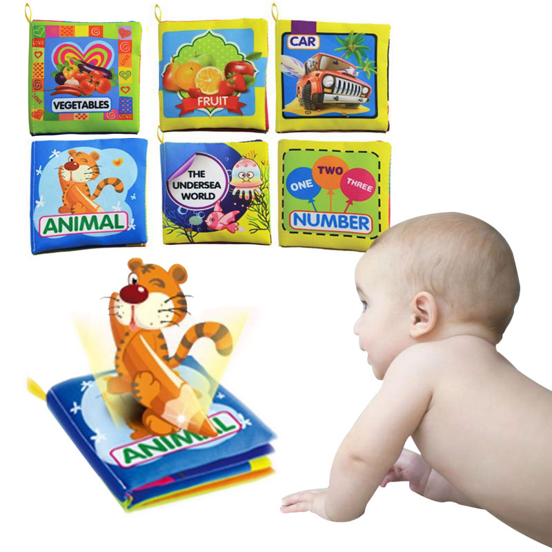 Toys For 3 And 6 : Baby toys months intelligence development cloth book
