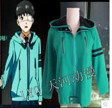 New Anime Tokyo Ghoul Kaneki Ken Cosplay SweatShirt Sweater Green thick fleece hoodie coat jacket