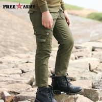 Brand Autumn Boys Pants Army Green Winter Cargo Joggers Teenage Boys Clothing Military Kids Pant Trousers Children Cotton Pants