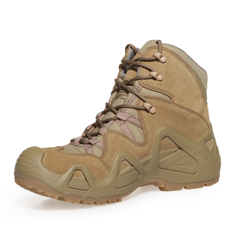 На открытом воздухе кемпинга горы высоким голенищем Нескользящие износостойкие обуви тапки Мужские Прочные Военные ботильоны амортизатор