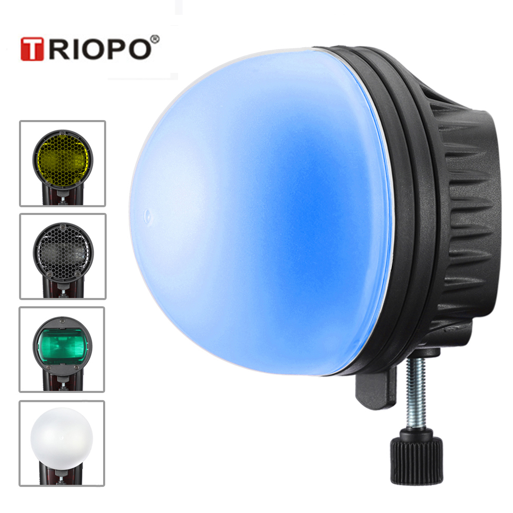 TRIOPO MagDome Color Filter Reflector Honeycomb Diffuser Ball Photo Accessories Kits For GODOX YONGNUO Flash Replace AK-R1 S-R1