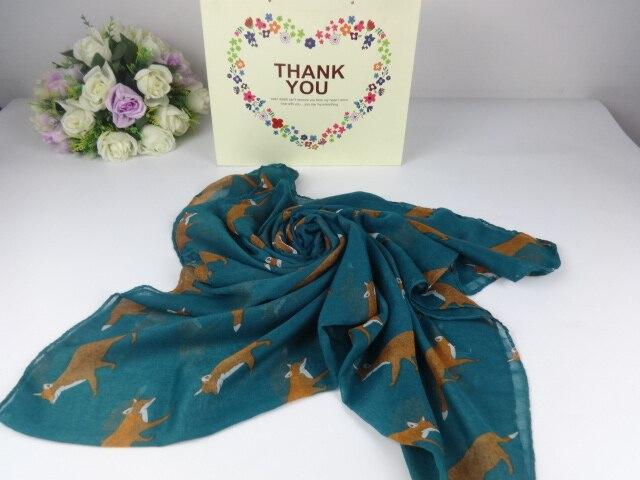 Животных символов с принтом лисы вискоза платки и Шарфы для женщин, шарф Для женщин, бренд шарф, волшебный шарф, бандана, пончо