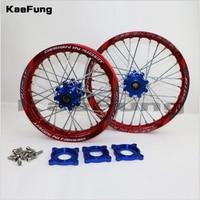 motorcycle 15mm Front 1.40 14 Rear 1.85 12 inch Alloy Wheel Rim with CNC Hub For HR 160cc Dirt Bike Pit bike 12 14 inch wheel