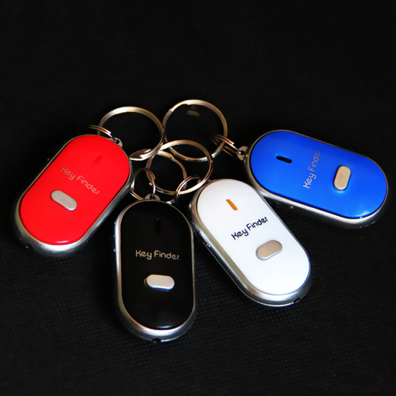 LED Key Finder Locator Find Lost Keys Chain Keychain Whistle Sound Control ND998