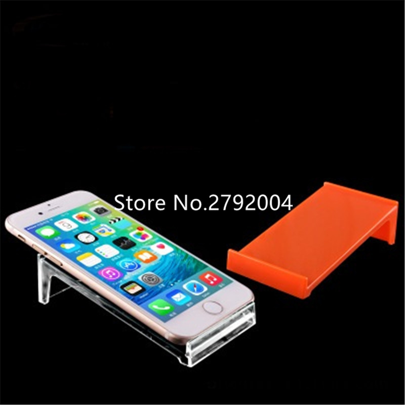 20 pcs/โทรศัพท์มือถือขาตั้งจอแสดงผล Apple ผู้ถือโทรศัพท์สมาร์ท andriod โทรศัพท์ที่มีสีสัน rack สำหรับร้านค้าปลีกนิทรรศการ-ใน ระบบ EAS จาก การรักษาความปลอดภัยและการป้องกัน บน title=