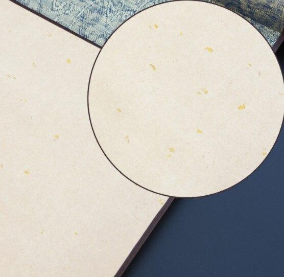 Caligrafía papel Banner propósito firmado en libro de desplazamiento francés pintura papel-Corte papel montado en blanco antiguo Xuan papel