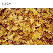 Laeacco Autumn Backdrops For Photography Fallen Leaves Maples Baby Newborn Food Portrait Photographic Backgrounds Photo Studio