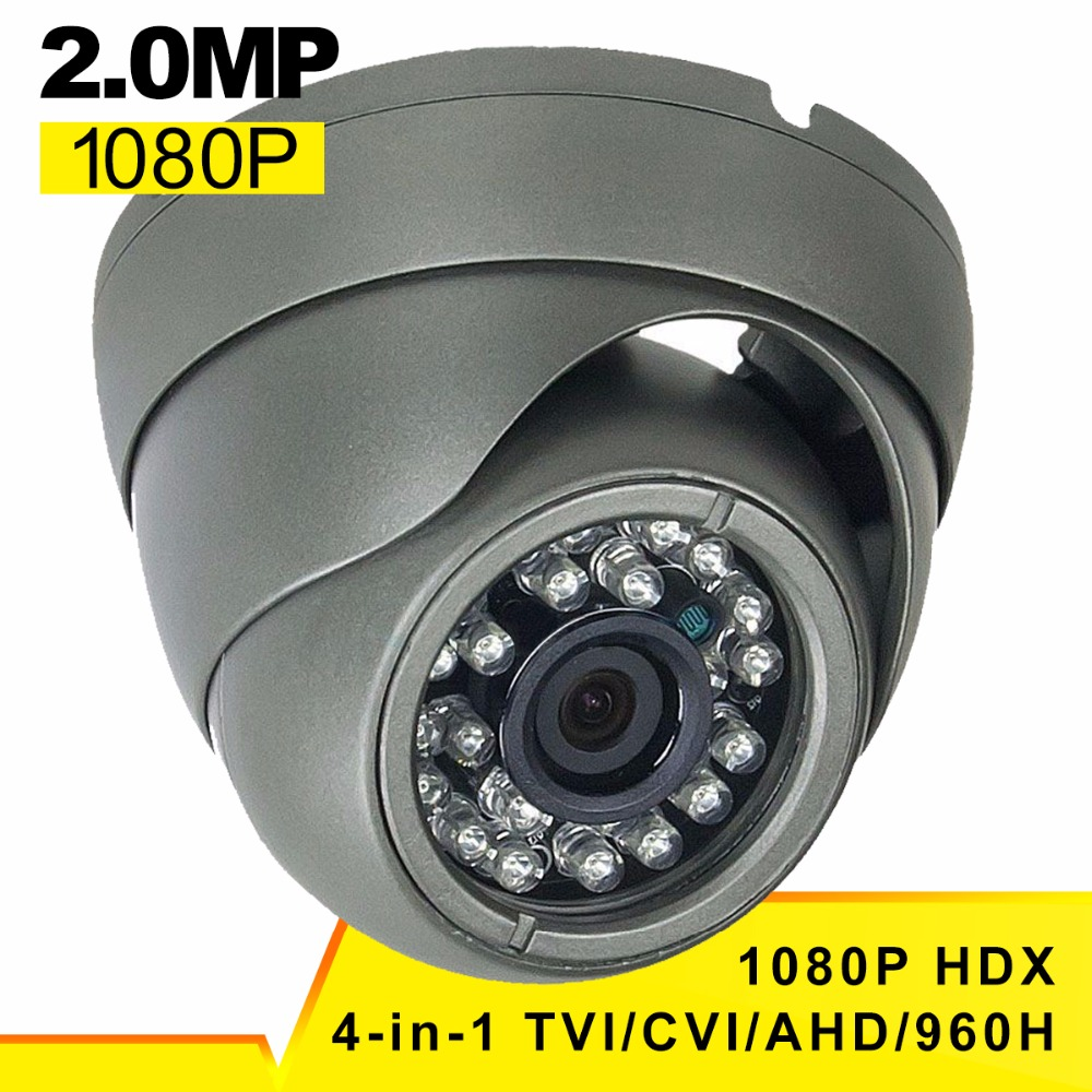 HiSecu CCTV Camera 2MP 1920 * 1080P 4-in-1 (TVI/AHD/CVI/960H Analog) Outdoor Security Dome Camera, True Day & Night Monitoring 4 in 1 ir high speed dome camera ahd tvi cvi cvbs 1080p output ir night vision 150m ptz dome camera with wiper