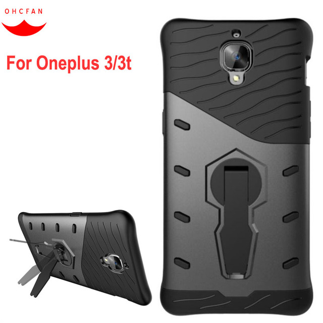 sports shoes 9f183 2fc71 US $3.89 |For Oneplus 3 Case 5.5 inch Heavy Duty Defender TPU+PC Silicon  Armor Shockproof with Standing Back Cover for Oneplus3 Oneplus 3T-in Fitted  ...