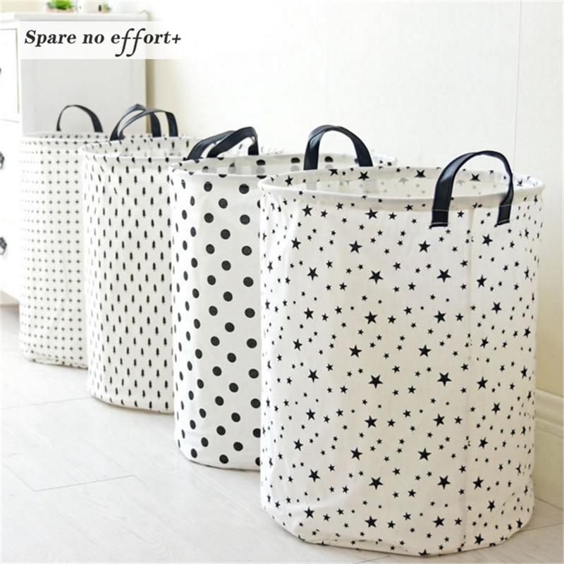 Laundry Basket 35*45 CM Sundries Storage Container Folding Storage Basket Toys Home Clothes Storage Bag Clothes Organizer
