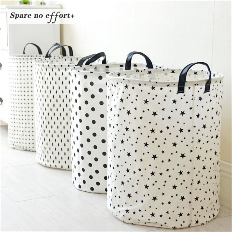 35*45 CM Laundry Basket Sundries Storage Container Folding Toys Home Clothes Bag Organizer