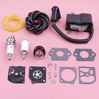 Ignition Coil Spark Plug For Homelite UT10514 UT10516 Carburetor Repair Fuel Filter Line Primer Bulb Kit Chainsaw Replace Part