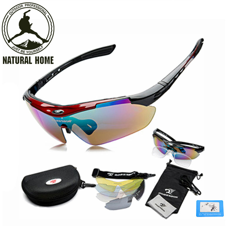 NaturalHome Sport Bike Bicycle Men Women Polarized Sunglasses Goggles Glasses Eyewear 5 Lenses  Oculos Occhiali Ciclismo bicycle glasses pc glasses outdoor cycling eyewear sunglasses mountain bike ciclismo oculos de sol for men women bicycle glasses
