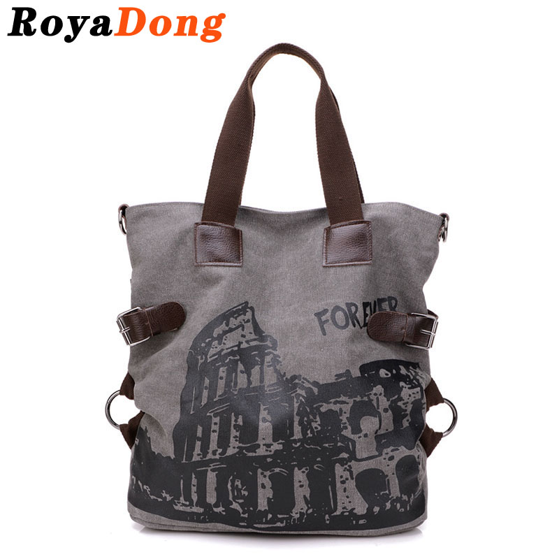 RoyaDong Canvas Women Shoulder Bag Bucket Bag Women Hand Bag Handbag Designer Cr