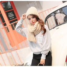 jzhifiyer knitted scarfs hat sets designer winter plain scarves caps womens round scarf new fashion scarf hat knit set mujer