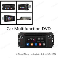 2 Din Universal Android 4 4 Full Touch Panel For Jeep Dodge Chrysler GPS Navigation Car