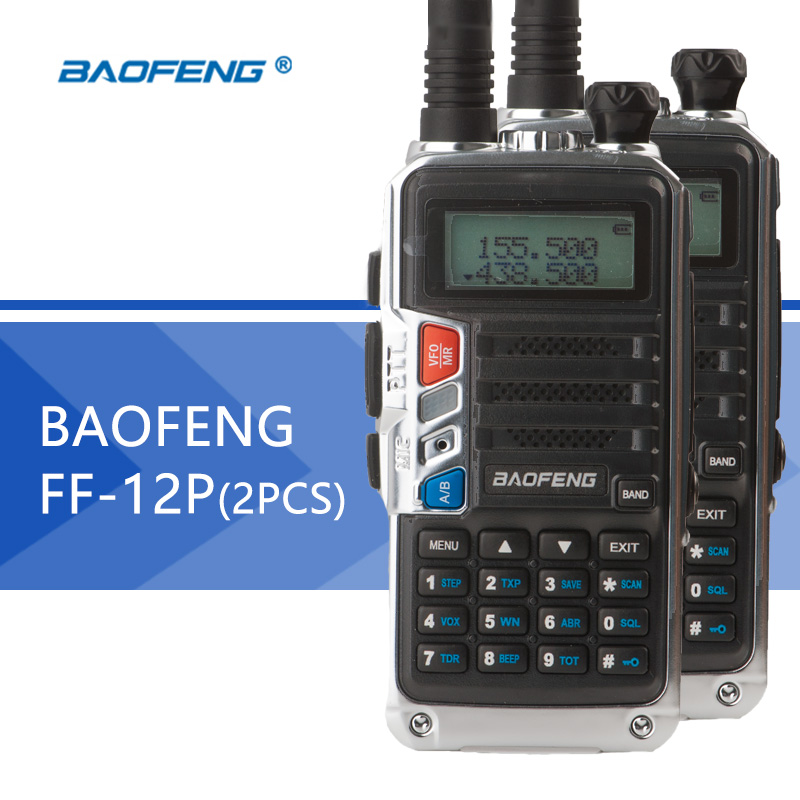 2 pièces BaoFeng talkie-walkie BF-12P Portable CB radio longue portée sans fil professionnel FM double bande VHF/UHF 5 W baofeng radio