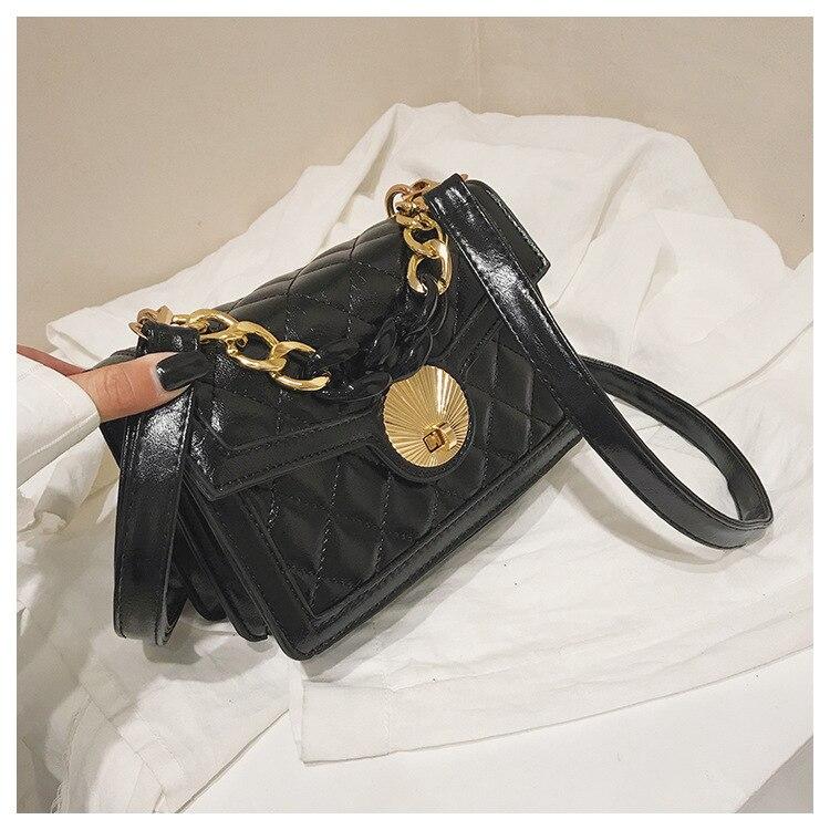 Women's Designer Luxury Channels Bags Shoulder Handbag for Women Quilted Leather Crossbody Flap Bag Fashion PU Lock Tote Handbag (5)