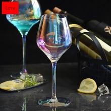 Высокое качество без примесей свинца и радужной расцветки с украшением в виде кристаллов красное вино Стекло Творческий бокал вина ручной работы коктейльное Стекло Питьевая чашка вечерние поставки напитков