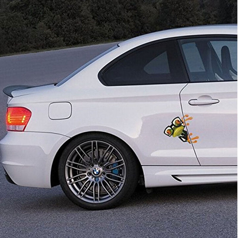 Jetting 1pc hot sale 3d cartoon peep frosch peep frosch cool car stickers funny car decals window graphics stickers in car stickers from automobiles