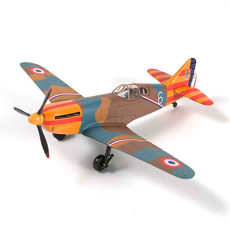 19cm France D520 Fighter Plastic Coated Finished Model World War II 1941 Air Force Aircraft Model Toy
