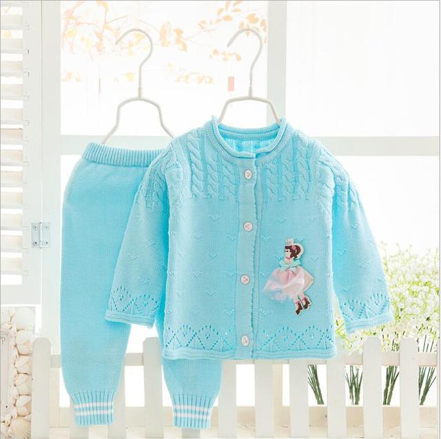 Primavera Outono New Baby Cotton Meninas Dos Desenhos Animados Camisola Crianças Camisola Crianças Cardigan Malha Camisolas para Meninos Set Roupas F292