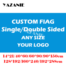 YAZANIE 60*90 cm/90*150 cm/120*180 cm/160*240 cm projekt Logo niestandardowe flaga duża firma Sport bandera World Cup dostosuj banery