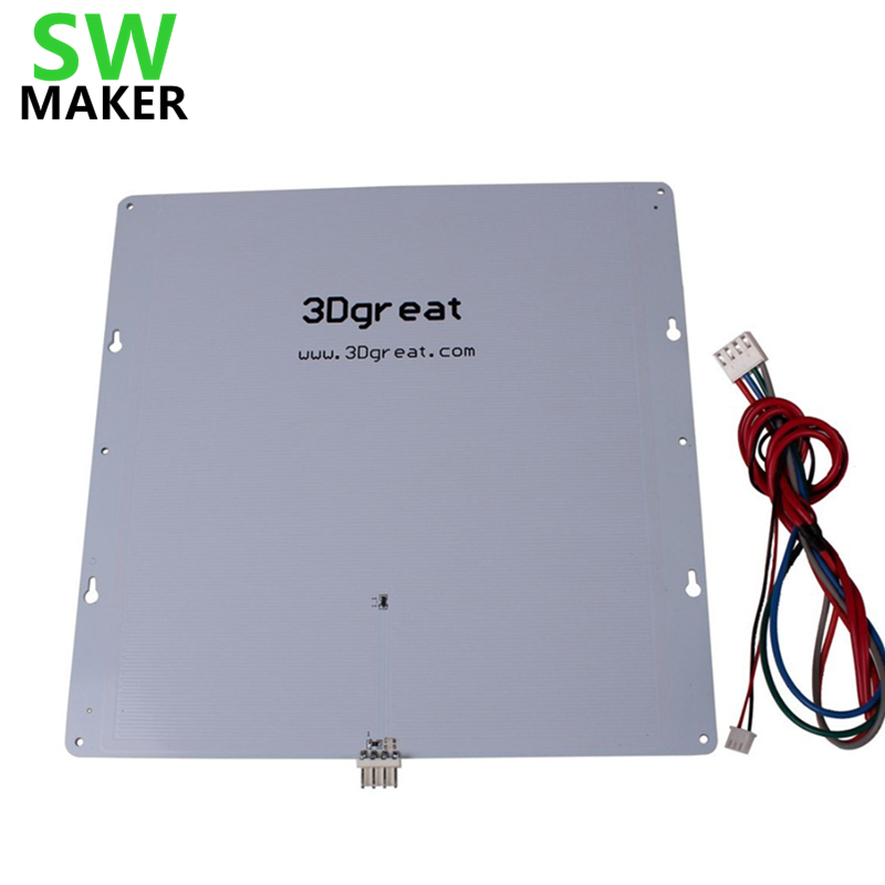 SWMAKER 242*242*2mm Ultimaker Original heated bed For DIY 3D printer Aluminium alloy UM build plate Heat Bed Hot Bed Plate-in 3D Printer Parts & Accessories from Computer & Office    1