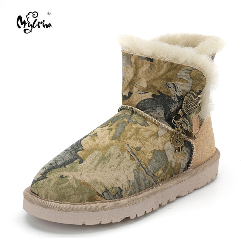 Free shipping Australia Classic Women Boots 100% Genuine Sheepskin Leather Snow Boots Women Shoes Warm Natural Fur Winter Boots omron omron тонометр r1 на запястье