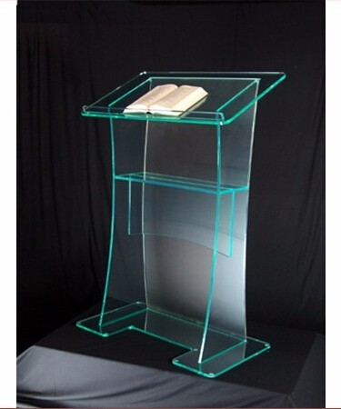 Free shipping hot sale acrylic pulpit church designs for Sale moderne
