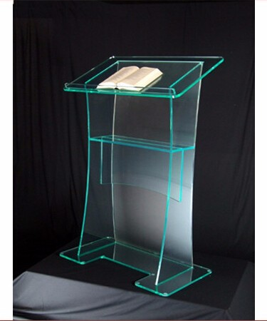 Hot Sale Acrylic Pulpit Church Designs / Custom Acrylic Podium Logo Customize