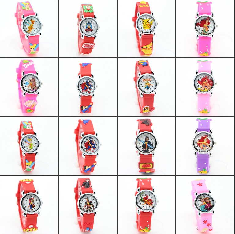 цена на 3D Cartoon Lovely Kids Children girls watch Students Quartz WristWatch Popular watches Party Fashion Casual Reloj