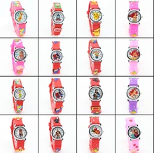 3D Cartoon Lovely Kids Children girls watch Students Quartz WristWatch Popular watches Party Fashion Casual Reloj