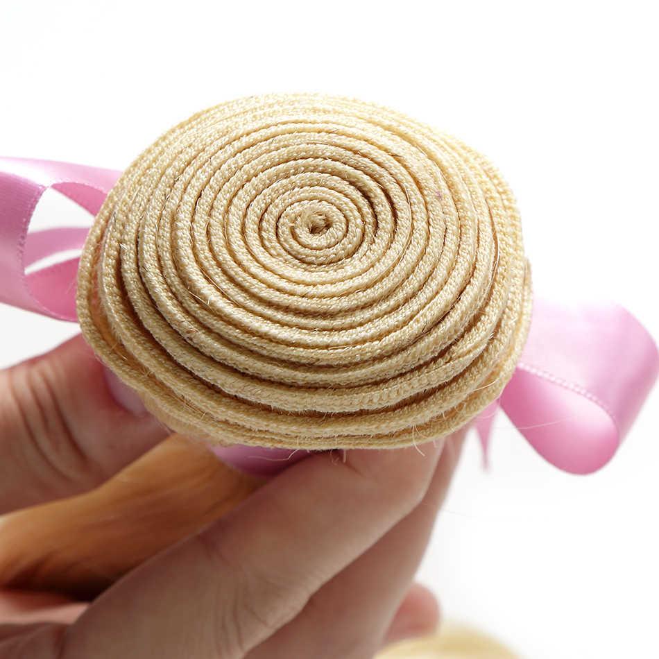 Luvin бразильские Remy волосы объемная волна 1 3 4 пряди 613 светлые волосы Unprocesse натуральные кудрявые пучки волос пряди для наращивания волос 30 дюймов