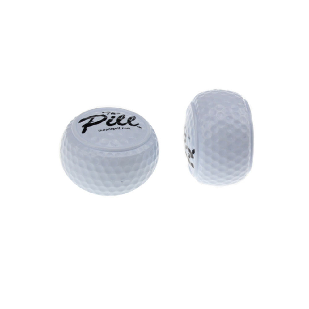 3pc/lot New Design Golf PelotasTwo Layer Driving Range Balls Golf ballen Balls Flat Shape Practice Golf Balls free shipping