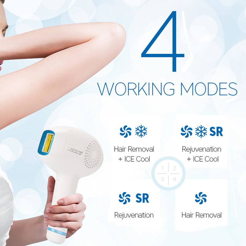 Image 4 - Lescolton 3 in 1 IPL Hair Removal ICE Cold Epilator Permanent Laser for Home Bikini Trimmer Electric Photorejuvenation Depilador-in Epilators from Home Appliances