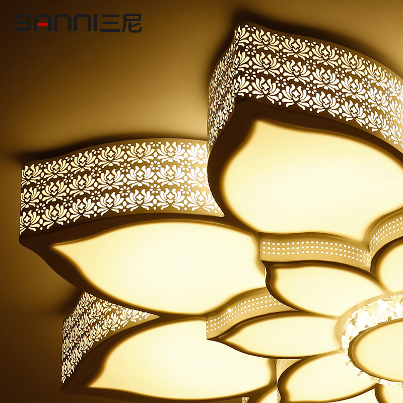 Led living room lotus flower ceiling lamp crystal alien romantic led living room lotus flower ceiling lamp crystal alien romantic personality atmosphere bedroom study lotus ceiling lights in chandeliers from lights aloadofball Images