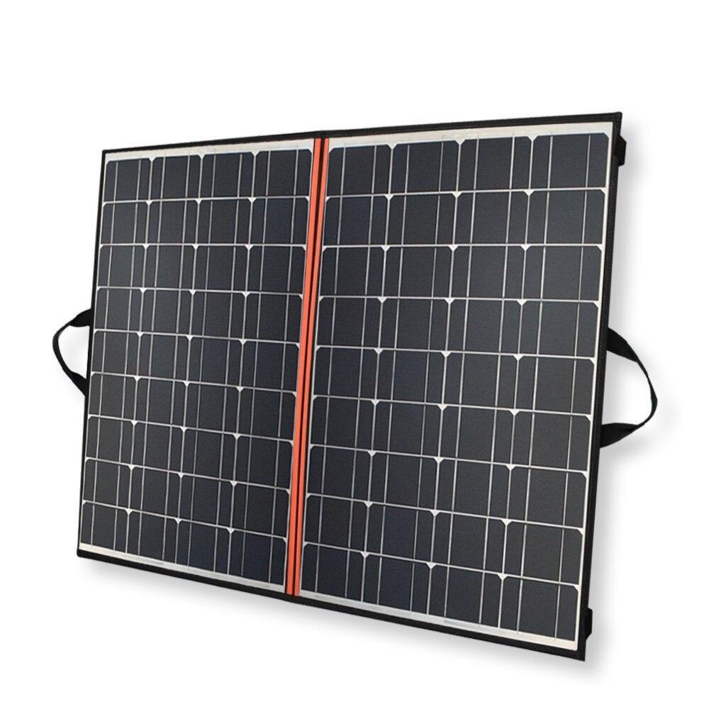 140 W panel plegable Cargador solar 70 W * 2 paneles solares mono negros China PV Módulo 12 V/24 V 10A controlador batería manta Solar