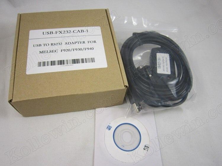 FreeShip Compatible USB-FX232-CAB-1 PLC Câble, OEM usbfx232cab1 pour F940/930/920 Tactile Panneau PLC, USB-FX232CAB1, soutien Win7/8