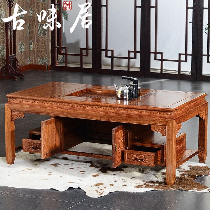 Lane Switchblade Coffee Table: Mahogany Furniture Wood Coffee Table Tea And Living Room