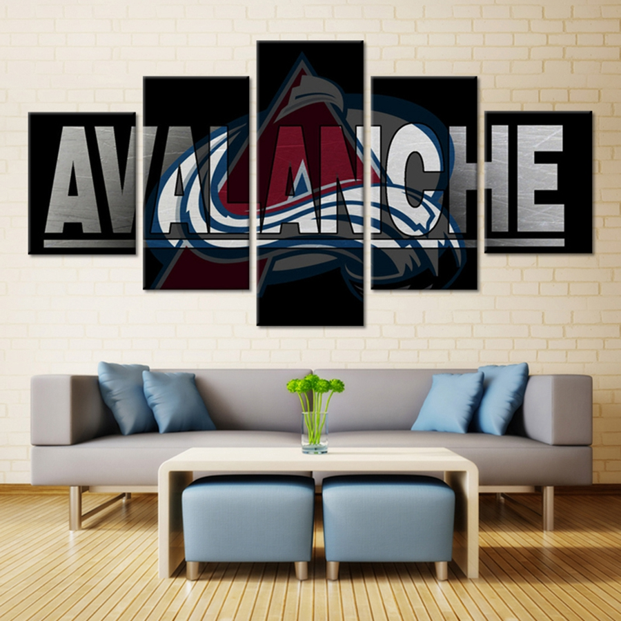 3d poster design online - Hot Sale Colorado Avalanche Logo American Nhl Ice Hockey 3d Wall Art Oil Painting Sport Wall Art Decor Giclee Poster Unframed