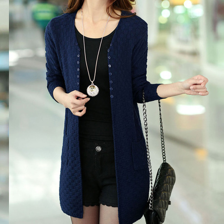 Women Sweater Long Cardigan Fashion Summer Style Long Sleeve Thin Knitted Cardigan female Sweaters Free Shipping