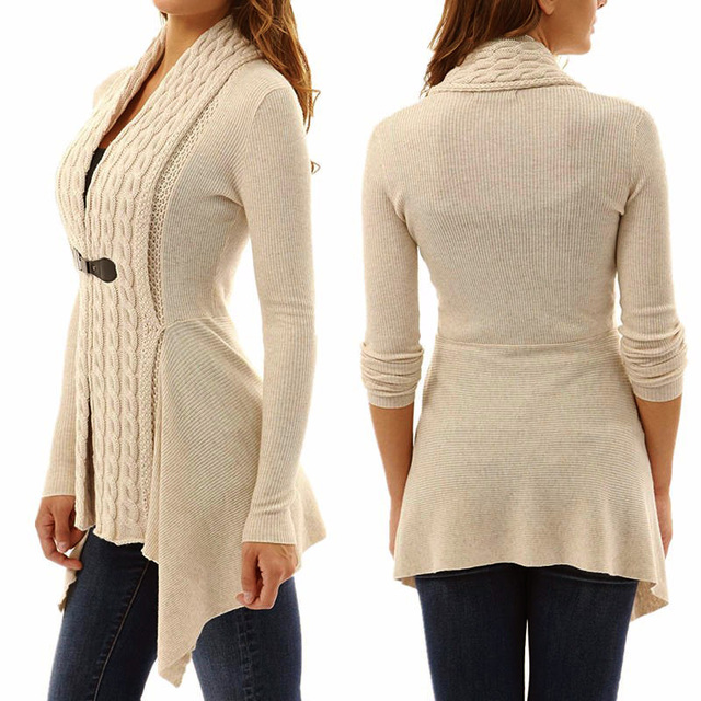 2020 new jacket Women Sexy V Neck Knitted cardigan Bandage Casual Pullover Jumper coat Tops Sweater femme autumn winter clothes 2