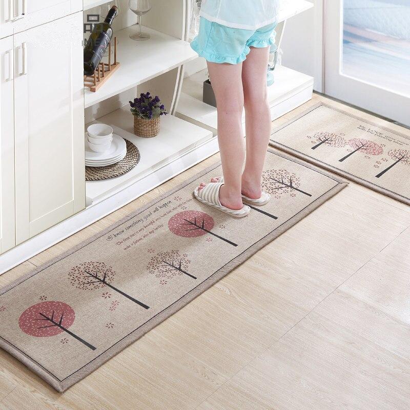 50X80 + 50X160 cm/Set Bettwäsche Küche Matte Hause Eingang/Flur Fußmatte Anti- slip Bad Teppich Absorbieren Wasser Küche Teppich/Teppich
