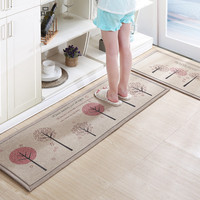 50X80+50X160CM/Set Linen Kitchen Mat Home Entrance/Hallway Doormat Anti Slip Bathroom Carpet Absorb Water Kitchen Carpet/Rug
