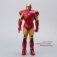 Novo Homem de Ferro 3 Figura de Ação de Super-heróis Homem De Ferro Mark 42 PVC Figure Toy 20 cm Chritmas Presente HRFG063
