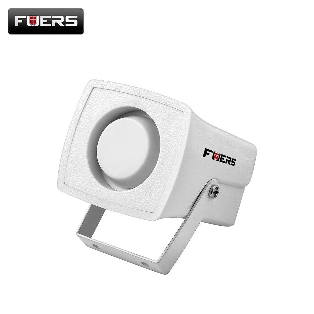 Проводной белый мини сирена для систем безопасности дома сигнализация мини сирена громко звук для защиты безопасности 120dB личный сигнал тр... ...